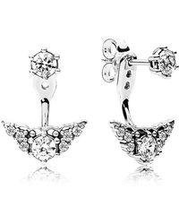 PANDORA - Fairytale Tiara Stud Earrings - Lyst