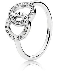 PANDORA - Circles Ring - Lyst