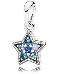 PANDORA - Bright Star Pendant - Lyst