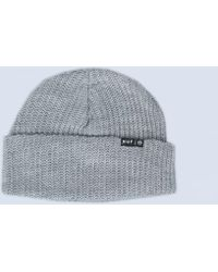 bdcb94c709932f True Religion Ribbed Beanie Hat Heather in Gray for Men - Lyst