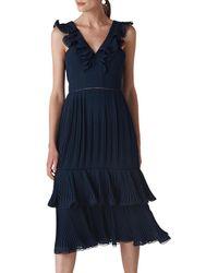 Fila - Argyle Pleated Dress - Lyst