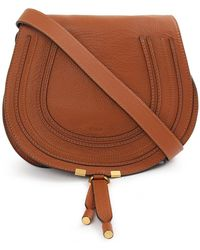 Chloé - Marcie Medium Saddle Bag Tan - Lyst