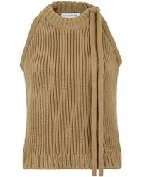 JW Anderson - Sleeveless Halter Neck Knit Fawn - Lyst