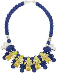 EK Thongprasert - Silicone Five Jewel & Metal Neckpiece Dark Blue/citrine Crystals - Lyst