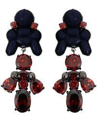 EK Thongprasert - Silicone Drop Earrings Navy/red Crystals - Lyst