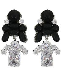 EK Thongprasert | Stepney Drop Earrings Black/white Crystals | Lyst