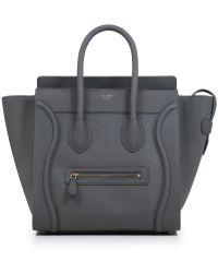 Céline - Mini Luggage Kohl - Lyst