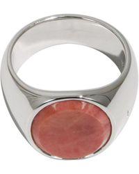 Tom Wood - Pink Rhodonite Oval Ring - Lyst