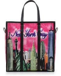 Balenciaga - Bazar Medium New York Shopper Black - Lyst