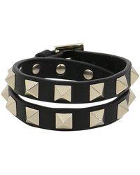 Valentino | Rockstud Wrap Leather Cuff Black | Lyst