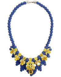 EK Thongprasert - Silicone Seven Jewel Neckpiece Dark Blue/citrine Crystals - Lyst