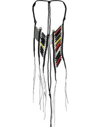En Inde - Suez Handwound Neckpiece Black/red/yellow - Lyst