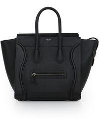 Céline - Mini Luggage Black - Lyst