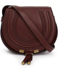 Chloé - Marcie Small Bag Burnt Brown - Lyst