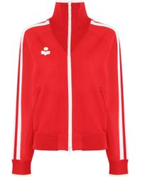 Isabel Marant - Etoile L/s Darcey Track Jacket Red - Lyst