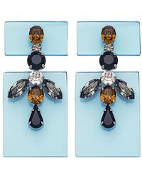 Sylvio Giardina - Perspex Two Piece Drop Earrings Smoke - Lyst