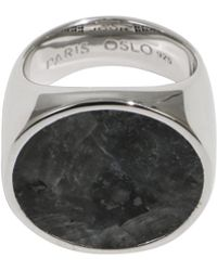 Tom Wood - Flush Larvikite Circle Ring Silver - Lyst