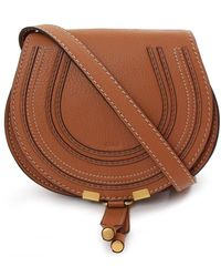 Chloé - Marcie Small Saddle Bag Tan - Lyst