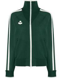 Isabel Marant - Etoile L/s Darcey Track Jacket Dark Green - Lyst