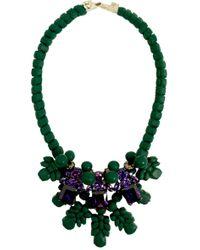 EK Thongprasert - Three Jewel Neckpiece Dark Green/amethyst Crystals - Lyst
