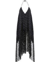 Jacquemus - La Robe Fringe Tunic Dress S/less Black/white - Lyst