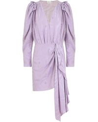Magda Butrym - L/s Lagos V-neck Dress Violet - Lyst