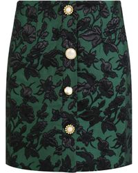 Mother Of Pearl - Molly Flower Print Mini Skirt Green - Lyst
