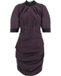 27a5737837b2 Lyst - Acne Studios Bordeaux Cabe Strap Crepe Dress in Red