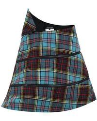 Junya Watanabe - Structured Tartan Check Mini Skirt Blue - Lyst