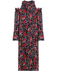 Mother Of Pearl - Carmela Cold-shoulder Floral-print Crepe Midi Dress - Lyst
