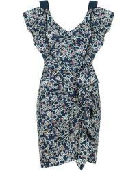 Isabel Marant - Etoile Topaz Paisley Floral Print Dress Faded Black - Lyst