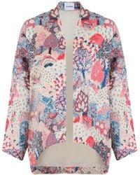 Vilshenko - Vanya Forest Print Jacket Cream - Lyst
