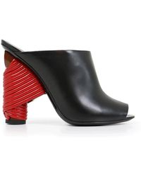 Balenciaga | Bistrot 110mm Mule Black/red | Lyst