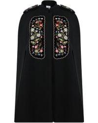 Vilshenko - Eugenia Embroidered Cape Black - Lyst