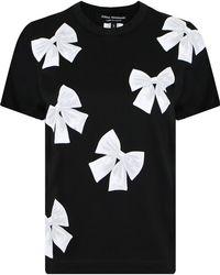 Junya Watanabe - S/s Bow Print T-shirt Black - Lyst