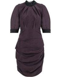 Isabel Marant - Milton Check Dress Anthracite/bordeaux - Lyst