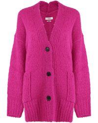 Isabel Marant - Etoile L/s Sadlery Cardigan Pink Drop - Lyst