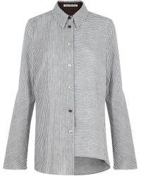 Acne Studios - Balzac Stripe Shirt Black/white - Lyst