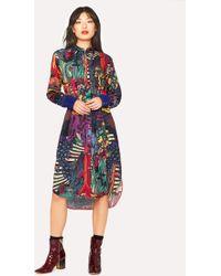 Paul Smith - 'Dreamer' Print Wool-Blend Shirt Dress - Lyst