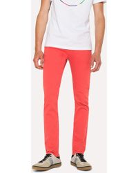 Paul Smith - Slim-Fit Coral Garment-Dye Jeans - Lyst