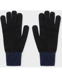 Paul Smith - Black Wool Knitted Gloves - Lyst