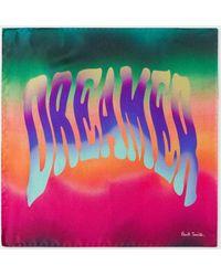 Paul Smith - Multi-Colour 'Dreamer' Print Silk Pocket Square - Lyst