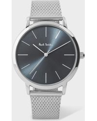 Paul Smith - Unisex Slate Grey And Stainless Steel 'Ma' Watch - Lyst