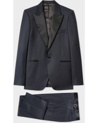 Paul Smith - The Soho - Tailored-Fit Navy Houndstooth Evening Suit - Lyst