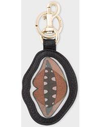 Paul Smith - 'Lips' Motif Lenticular Leather Keyring - Lyst