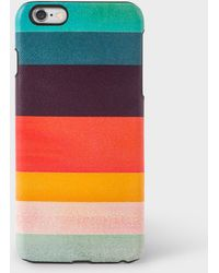 Paul Smith - Artist Stripe Leather Iphone 6 Plus Case - Lyst