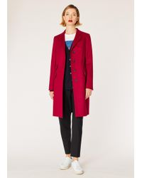 Paul Smith - Dark Red Wool-Cashmere Epsom Coat - Lyst