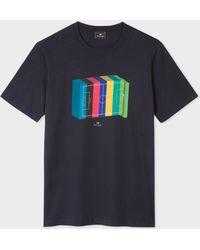 Paul Smith - Navy '3D Football Pitch' Print T-Shirt - Lyst