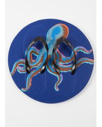 Paul Smith - Blue 'Octopus' Print Flip Flops - Lyst