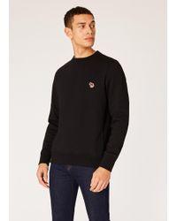 Paul Smith - Black Organic-Cotton Lunar New Year Zebra Logo Sweatshirt - Lyst